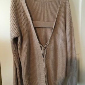 T Alexander Wang Lace Up Back Sweater